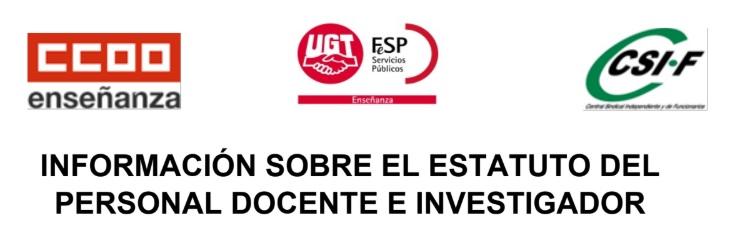Comunicado conjunto UGT-CCOO-CSIF
