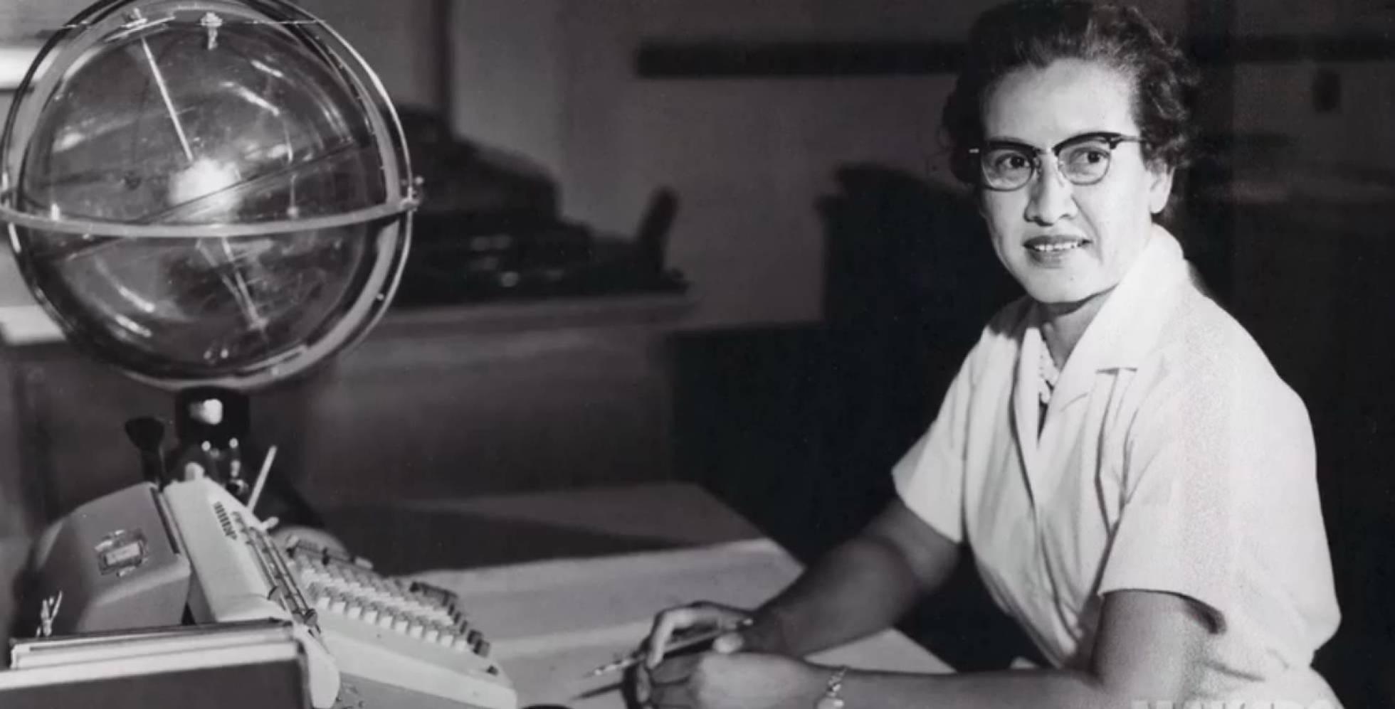 Katherine Johnson, en la NASA en 1966. NASA