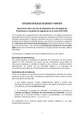 Normas de permanencia y anulación de matricula